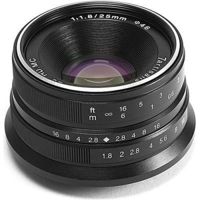 7 ARTISANS 25MM F1.8 FOR FUJI FX-MOUNT / APS-C BLACK