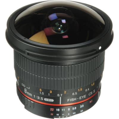 SAMYANG 8MM F/3.5 HD FISHEYE LENS WITH AE CHIP AND REMOVABLE HOOD FOR NIKON