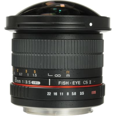 SAMYANG 8MM F/3.5 HD FISHEYE LENS WITH REMOVABLE HOOD FOR CANON