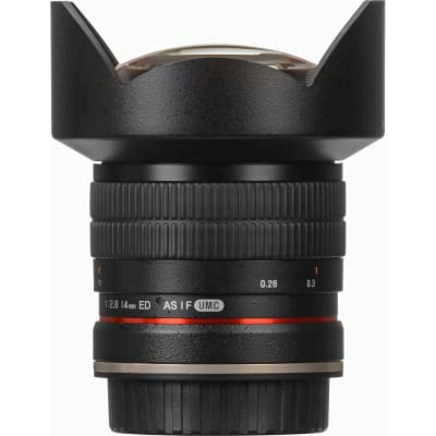 SAMYANG 14MM F/2.8 ED AS IF UMC LENS FOR CANON EF WITH AE CHIP