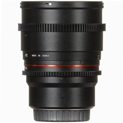 SAMYANG 85MM T1.5 VDSLR II ED AS IF USM FULL FRAME FOR NIKON (BLACK)