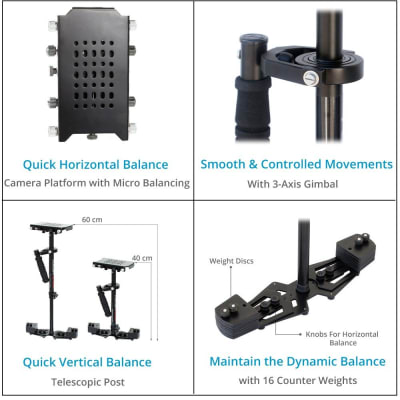 FLYCAM HD-3000 CAMERA STEADYCAM SYSTEM WITH COMFORT ARM AND VEST (CMFT-HD3)