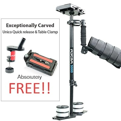 FLYCAM 5000 STABILIZER WITH QUICK RELEASE PLATE & ARM BRACE (FLCM-5000-ABQ)