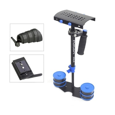 FLYCAM DSLR NANO BLUE STEADY CAM STABILIZER WITH ARM BRACE AND COMPLIMENTARY QUICK RELEASE (DSLR-NANO-QR-BL)