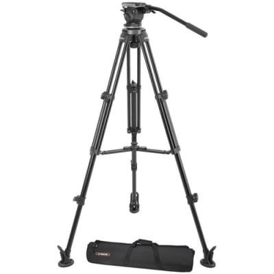 E-IMAGE EK630 PROFESSIONAL TRIPOD STAND KIT WITH FLUID HEAD