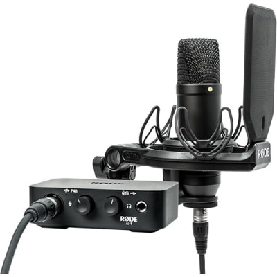 RODE NT1 MICROPHONE WITH AI-1 AUDIO INTERFACE COMPLETE STUDIO KIT