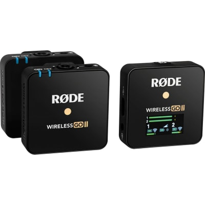 RODE WIRELESS GO II 2-PERSON COMPACT DIGITAL WIRELESS MICROPHONE SYSTEM/RECORDER (2.4 GHZ, BLACK)