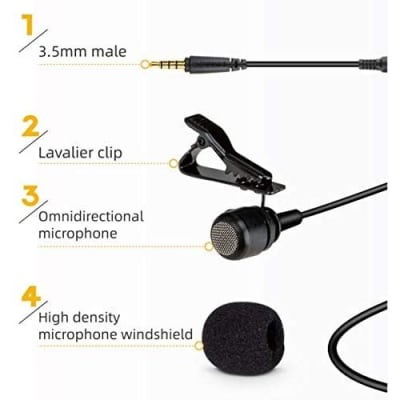 KODAK M11 2.5 MM LAVLIER MICROPHONE WITH ADAPTER FOR SMARTPHONE