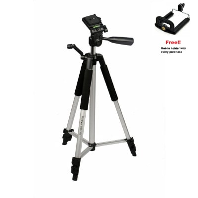 PHOTRON STEDY 450 TRIPOD FOR MIRRORLESS/ DSLR CAMERA, MOBILE, GOPRO ETC. (SUPPORTS UP TO 2.7 KG)