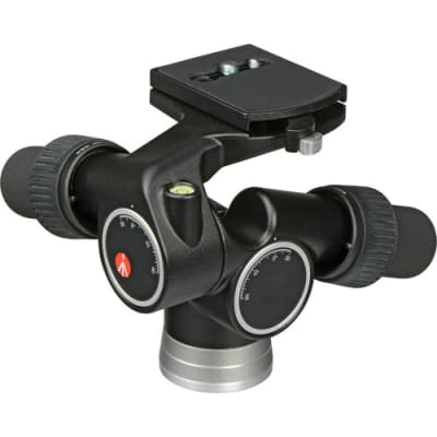 MANFROTTO 405 3-WAY, GEARED PAN-AND-TILT HEAD WITH 410PL QUICK RELEASE PLATE
