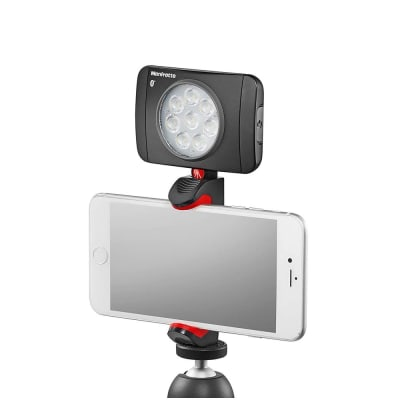 MANFROTTO MANFROTTO DOUBLE LOCK CLAMP WITH COLD SHOE FOR UNIVERSAL/SMARTPHONES - BLACK