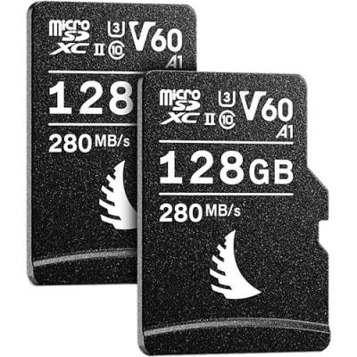 ANGELBIRD 128GB AV PRO UHS-II MICROSDXC V60 MEMORY CARD WITH SD ADAPTER