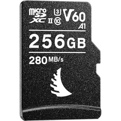 ANGELBIRD 256GB AV PRO UHS-II MICROSDXC V60 MEMORY CARD WITH SD ADAPTER
