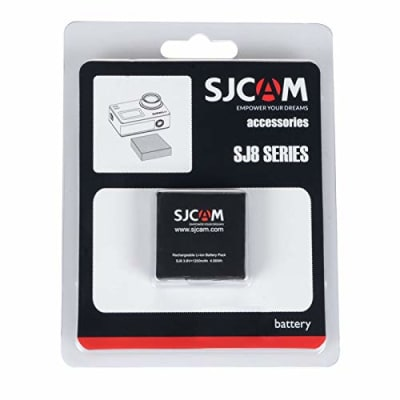 SJCAM 3.8V 1200MAH LI-ION BATTERY FOR SJ8 PRO SJ8 PLUS/SJ8 AIR ACTION CAMERA (BLACK)