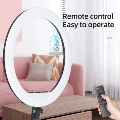 """RELIABLE 18 INCHES RINGLIGHT - 18"""" PROFESSTIONAL RINGLIGHT FOR MAKEUP, YOUTUBE VIDEOS, TIKTOK VIDEOS ETC (WITHOUT STAND)"""