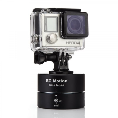 RELIABLE 360° 60 MINUTES ROTATING TRIPOD TIME LAPSE STABILIZER WITH MOBILE ATTACHMENT & TRIPOD MOUNT FOR IPHONE,SAMSUNG,GOPRO,SJCAM, YI & DIGITAL CAMERAS