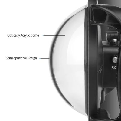RELIABLE DUAL HANDHELED DOMET PORT FOR DJI OSMO ACTION CAMERA