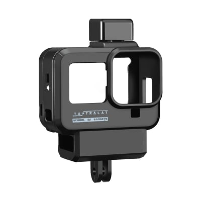 RELIABLE YANTRALAY YT-G8 VLOGGING CASE FOR HERO 8 WITH COLD SHOE MOUNT & MICROPHONE ADAPTER HOUSING CASE WITH 52MM FILTER RING COMAPTIBLE WITH GOPRO HERO 8