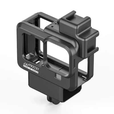 RELIABLE YANTRALAY YT-G9 VLOGGING CASE WITH DUAL COLD SHOE MOUNT COMPATIBLE WITH GOPRO HERO 9 BLACK ACTION CAMERA ACCESSORIES