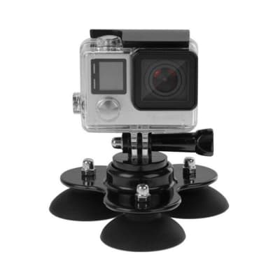 RELIABLE WINDSHIELD CAR SUCTION CUP MOUNT COMPATIBLE WITH GOPRO HERO 9/8/7 BLACK, SJCAM, YI, EKEN & OTHER ACTION CAMERAS ACCESSORIES