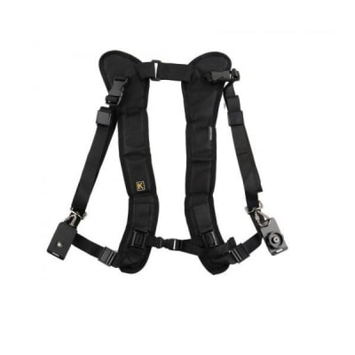 """RELIABLE DUAL CAMERA SHOULDER NECK SLING QUICK STRAP WITH FASTEN ADAPTER &1/4"""" MOUNT SCREW FOR DSLR CAMERA & CAMERA LENS"""