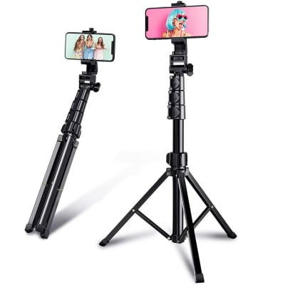 RELIABLE VLOGGING SELFIE STICK WITH TRIPOD STAND FOR RING LIGHT ,MOBILE HOLDER & GOPRO MOUNT COMPATIBLE FOR ALL SMARTPHONES, ACTION CAMERAS & VLOGGING ACCESSORIES