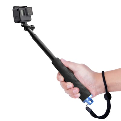 RELIABLE 17 INCH MONOPOD SELFIE STICK FOR GOPRO HERO 9/8/7/6 & ALL ACTION CAMERAS