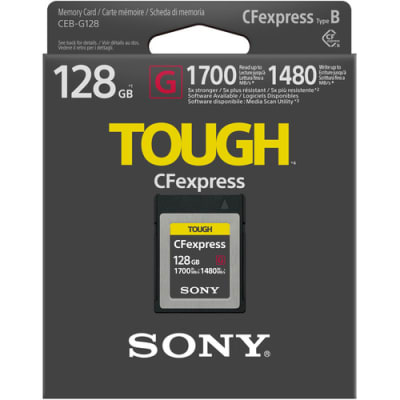 SONY 128GB CEB-G Series CFexpress Type B Memory Card 1700MBPS/ WRITE 1480MBPS