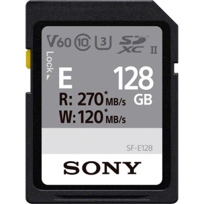 SONY 128GB SF-E Series UHS-II SD Memory Card 270MBPS/ WRITE 120MBPS