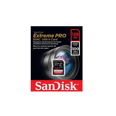 SANDISK 128GB SD EXTREME PRO 300MB