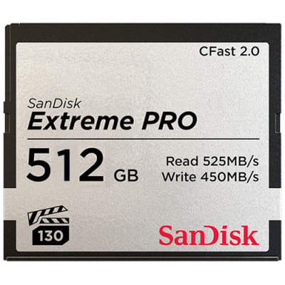 SANDISK 512GB C-FAST CARDS SPEED 525MB