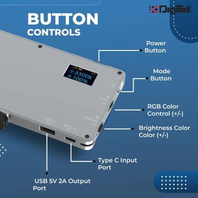 DIGITEK LED D135 ML RGB METAL BODY PORTABLE LED VIDEO LIGHT