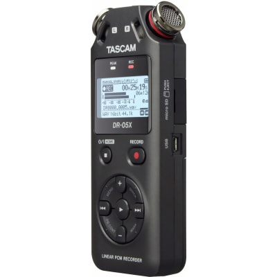 TASCAM DR-05X 2-INPUT / 2-TRACK PORTABLE AUDIO RECORDER WITH ONBOARD STEREO MICROPHONE