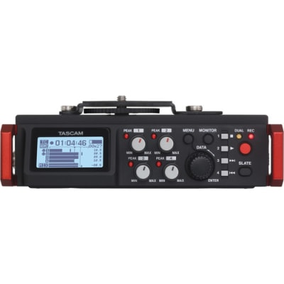 TASCAM DR-701D 4-CHANNEL / 6-TRACK MULTITRACK FIELD RECORDER WITH ONBOARD OMNI MICROPHONES