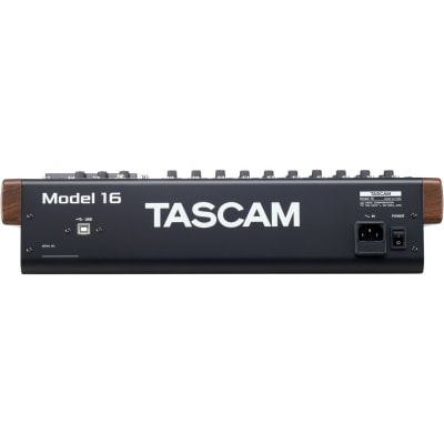 TASCAM MODEL 16 HYBRID 14-CHANNEL MIXER, MULTITRACK RECORDER, AND USB AUDIO INTERFACE