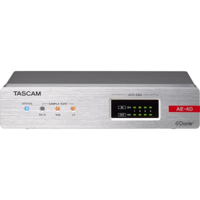 TASCAM AE-4D AES/EBU INPUT/OUTPUT DANTE CONVERTER WITH BUILT-IN DSP MIXER