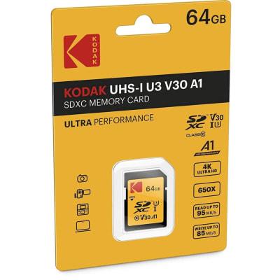 KODAK HIGH SPEED SDXC 64 GB CLASS 10 95 MB/S SD MEMORY CARD
