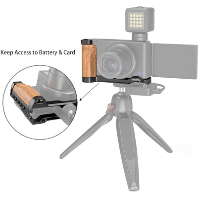 SMALLRIG 2936 L-SHAPE WOODEN GRIP WITH COLD SHOE FOR SONY ZV1 DIGITAL CAMERA