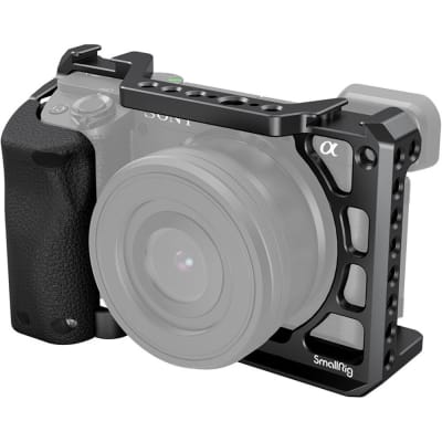 SMALLRIG 3164 CAMERA CAGE WITH SILICONE HANDGRIP FOR SONY A6400/A6300/A6100