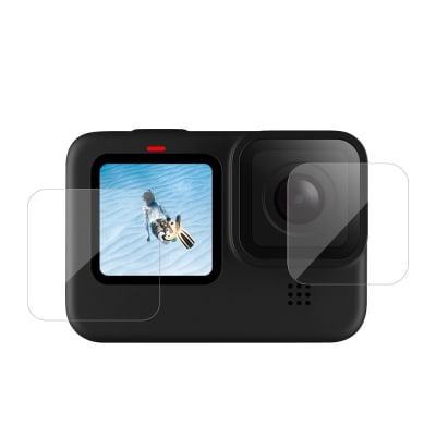 TELESIN GP-FLM-901 TEMPERED GLASS SCREEN & LENS PROTECTIVE FILM COVER FOR GOPRO 9