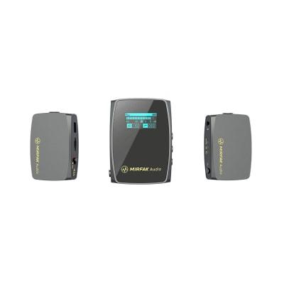 MIRFAK WE10 PRO DUAL TRANSMITTER WIRELESS MICROPHONE SYSTEM