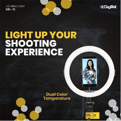 DIGITEK DRL-12H 12 INCH PROFESSIONAL LED RING LIGHT