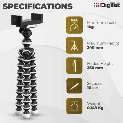 DIGITEK DTR-260GT GORILLA TRIPOD/MINI 13 INCH TRIPOD