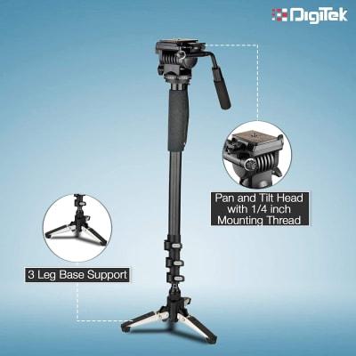 DIGITEK DMP-60TR LIGHTWEIGHT ALUMINUM TELESCOPIC CAMERA MONOPOD