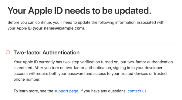 Two-factor Authentication Disabled | Apple