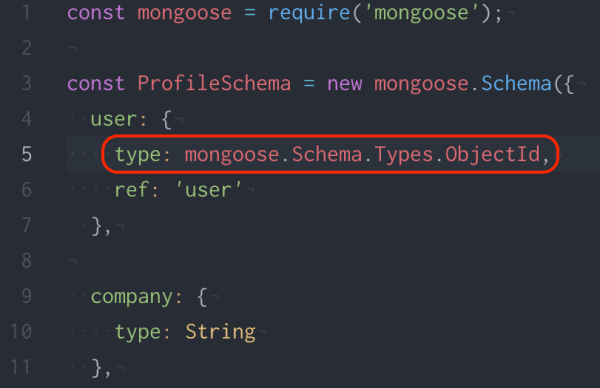 mongoose.Schema.Types.ObjectId example