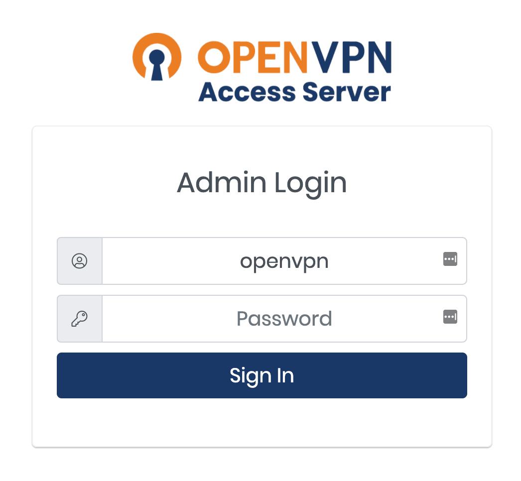 Admin Login   OpenVPN
