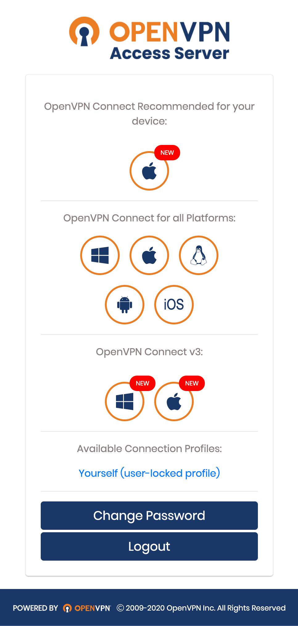 Download OpenVPN Connect App, Profile   OpenVPN
