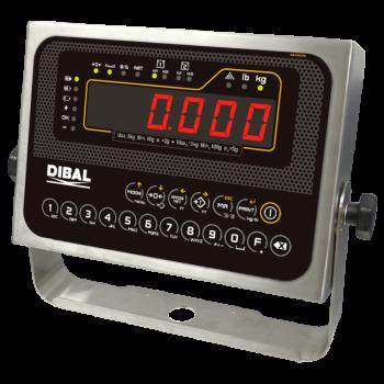 Platformweegschaal met weegindicator op kolom | BEV + DMI-620 serie