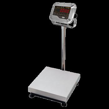 Platformweegschaal met weegindicator op kolom | BEV + DMI-610 serie